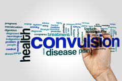 Convulsion word cloud. Concept on grey background Royalty Free Stock Photo
