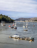 Conway Bay, sail boats and pleasure craft Stock Image