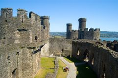 Conway Castle Stock Photo
