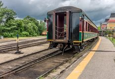 Conway Scenic Railroad, Conway del norte fotos de archivo libres de regalías
