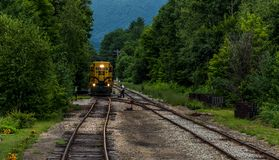 Conway Scenic Railroad, Conway del norte imagen de archivo libre de regalías