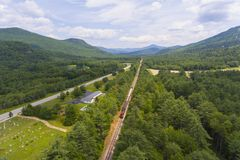 Conway Scenic Railroad, New Hampshire, Etats-Unis Image stock