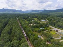 Conway Scenic Railroad, New Hampshire, Etats-Unis Photographie stock libre de droits