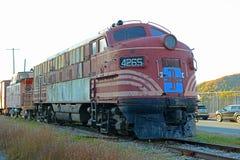 Conway Scenic Railroad, New Hampshire, los E.E.U.U. Foto de archivo libre de regalías