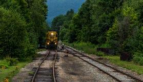 Conway Scenic Railroad, Conway norte imagem de stock royalty free