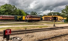 Conway Scenic Railroad, North Conway. The Conway Scenic Railroad is a heritage railway in North Conway, New Hampshire, United States stock images
