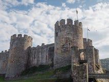 Conwy城堡,威尔士外部  库存照片
