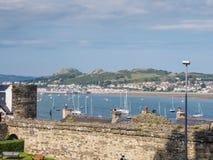 从Conwy城堡,威尔士的看法 库存照片