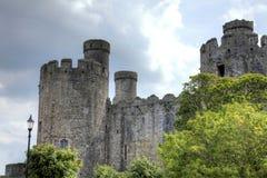 conwy的城堡 免版税库存照片