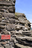 Conwy опасно взобраться на историческом средневековом городке w Стоковая Фотография