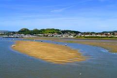 风景河Conwy在北部威尔士 库存照片
