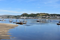 Conwy beach Royalty Free Stock Photo
