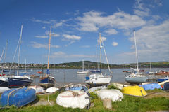 Conwy boats Stock Photos