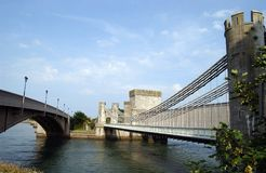Conwy Bridges. The Bridges in Conwy royalty free stock photos