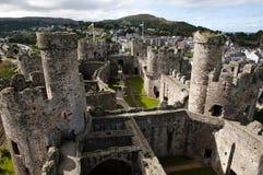 Conwy Castle - Ουαλία - UK Στοκ φωτογραφία με δικαίωμα ελεύθερης χρήσης