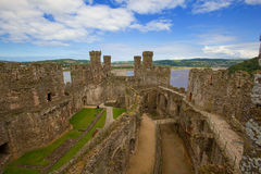 Conwy Castle. Overview of Conwy Castle in Wales Royalty Free Stock Photos