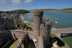 Conwy Castle Stock Image