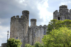 Conwy Castle. Ancient castle in Conwy, North Wales Royalty Free Stock Photos