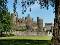 Conwy Castle. 13th century Conwy Castle, North Wales, United Kingdom Stock Images