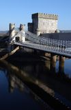 Conwy Castle. The bridge over the water at Conwy Castle Royalty Free Stock Photo