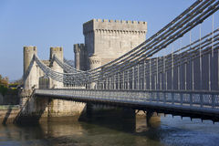 Conwy Castle Bridge - Conwy - Wales Stock Images