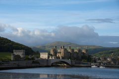Conwy Castle an Early Morning View Stock Images