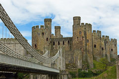 Conwy Castle medieval fortress in northern Wales Stock Images