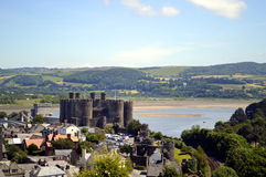 Conwy Castle. In North Wales Royalty Free Stock Image