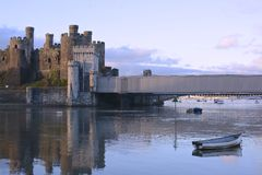 Conwy castle. North Wales, built by king Edward Stock Photo