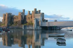 Conwy castle. North Wales, built by king Edward Royalty Free Stock Images