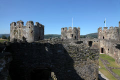 Conwy Castle, North Wales Stock Images