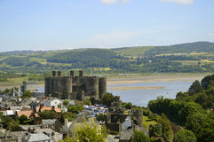 Conwy Castle in North Wales Royalty Free Stock Photography