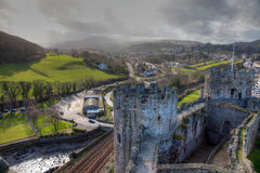 Conwy Castle and Valley Stock Image