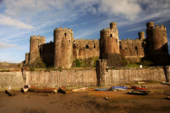 Free Conwy Castle, Wales. Stock Images - 17406434