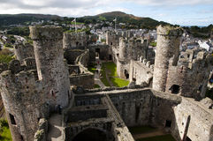 Conwy Castle - Wales - UK Royalty Free Stock Photo