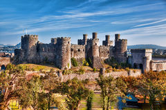 Conwy Castle in Wales, United Kingdom, series of Walesh castles. Famous Conwy Castle in Wales, United Kingdom, series of Walesh castles stock photography