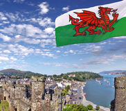 Conwy Castle in Wales, United Kingdom, series of Walesh castles Stock Photos