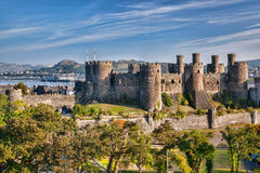 Conwy Castle in Wales, United Kingdom, series of Walesh castles Royalty Free Stock Image