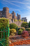 Conwy Castle in Wales, United Kingdom, series of Walesh castles Stock Photography