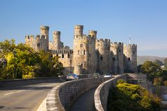 Conwy Castle in Wales, United Kingdom, series of Walesh castles Royalty Free Stock Photos