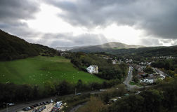 Conwy and the Conwy Valley in Characteristically Dramatic Lighting, Wales, UK Royalty Free Stock Photo