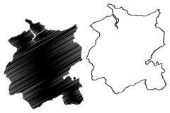 Conwy County Borough map vector. Conwy County Borough United Kingdom, Wales, Cymru, Principal areas of Wales map vector illustration, scribble sketch Conwy map royalty free illustration