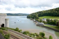 Conwy Landscape Royalty Free Stock Photo