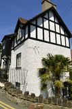 Conwy mock Tudor style house in Wales. Mock Tudor style house in North Wales Stock Image