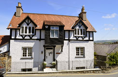 Conwy mock Tudor style house in Wales. Mock Tudor style house in North Wales Stock Images