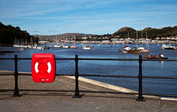 Conwy Quayside. With bikes attached to the railings  North Wales Royalty Free Stock Photo