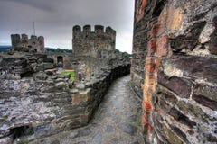 Conwy Schloss Stockfotos