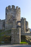 Conwy Schloss - Conwy - Wales Lizenzfreies Stockfoto