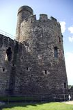 Conwy Schloss-Kontrollturm Stockfotos