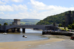 Conwy Suspension Bridge Royalty Free Stock Image